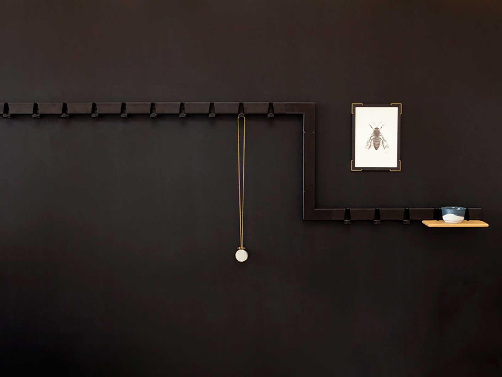 Coat Rack By The Meter Black