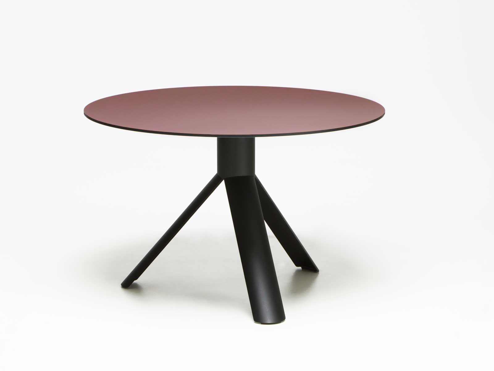Round tube table 120 cm ntm 0751 rosso jaipur for 120 table