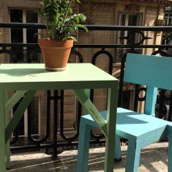 Enjoyable Balcony Aluminium Table Pabps2019 Chair Design Images Pabps2019Com