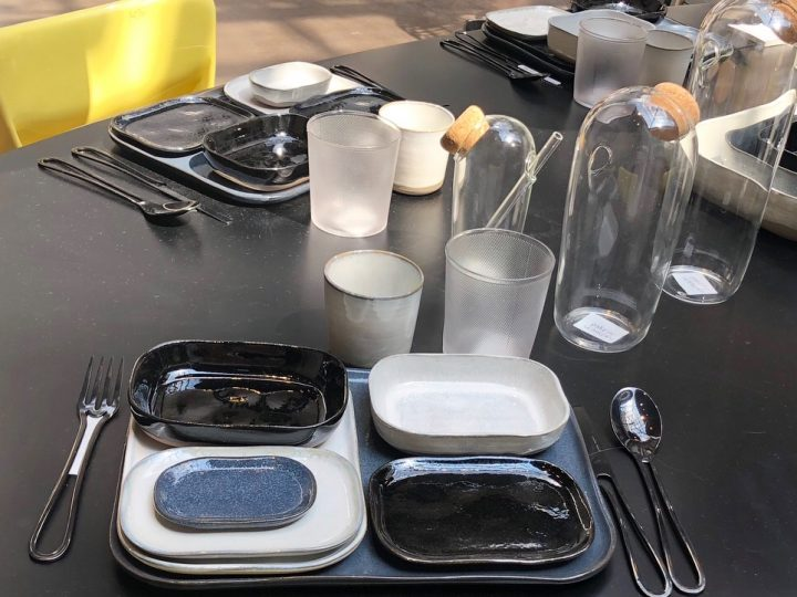 OUTLINE cutlery and JULIE decanters @ Merci Paris