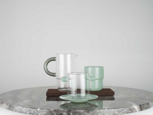 Stack glasses. Design by Maarten Baptist